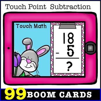 TouchMath Subtraction  Bundle: BOOM CARDS