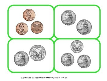 TouchMoney Independent Math Task Box - counting coins