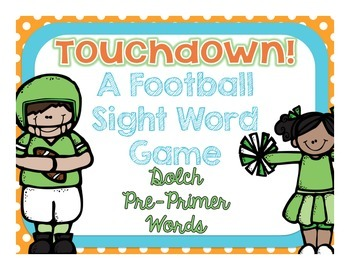 Touchdown A Football Sight Word Game {Dolch Pre-Primer Words}