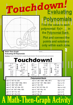 Touchdown! - A Math-Then-Graph Activity - Evaluating Polynomials