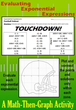 Touchdown! - A Math-then-Graph Activity - Exponential Expressions