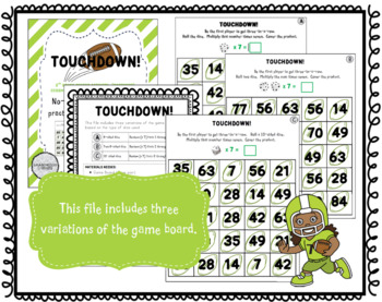 Touchdown: A Multiplication Fact Game for Fluency with 7s