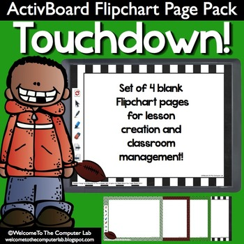 Touchdown! ActivBoard Flipchart Page Pack