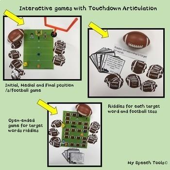 Touchdown Articulation Games and Activities for /s/ and /s/-blends