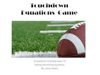 Touchdown Equations Game