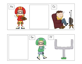 Touchdown!  Find the Missing Alphabet Letters
