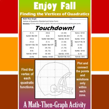 Touchdown - A Math-Then-Graph Activity - Finding Vertices