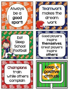 Touchdown!  Football Lunchbox Notes & Bottle Wraps