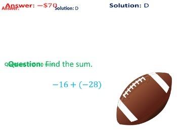 Touchdown Integers (Addition & Subtraction)