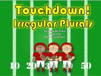 Irregular Plurals (CCSS Language) -- A Language Smarboard Game