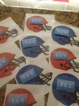 Touchdown!- Multiplication football