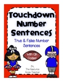 Touchdown Number Sentences with QR Codes!