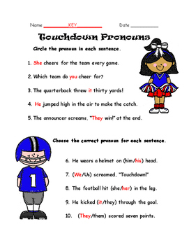 Touchdown Pronouns