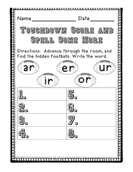 Touchdown Score - Spell Some More