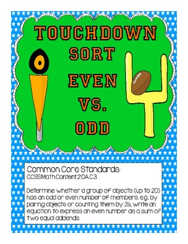Touchdown Sort: Even vs Odd (Football Theme)