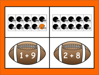 Touchdown! Ten Frame Addition Game - Cincinnati Bengals Themed