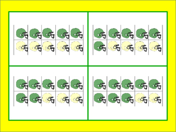 Touchdown! Ten Frame Addition Game - Green Bay Packers Themed