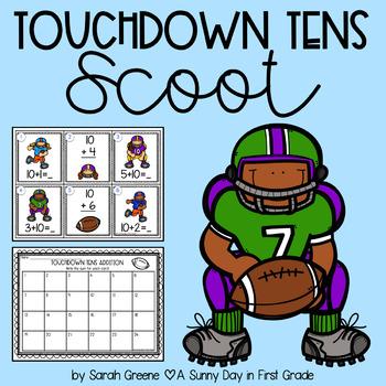 Touchdown Tens Scoot {adding 10}