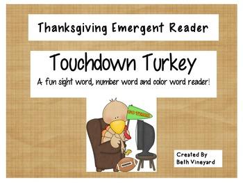 Touchdown Turkey- An Emergent Reader for Thanksgiving