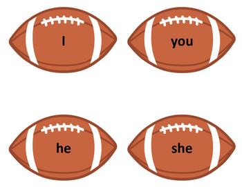 Touchdown! nouns and pronouns