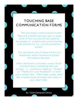 Touching Base Communication Forms