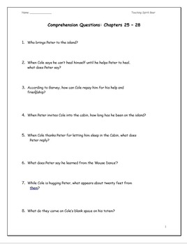 Touching Spirit Bear: A Complete Novel Study