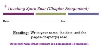 Touching Spirit Bear (Chapter Assignment)