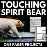 Touching Spirit Bear Novel Study Unit | One Pager Poster Projects | Activities