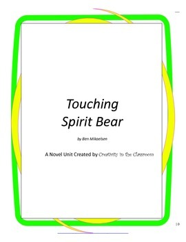 Touching Spirit Bear Novel Unit Plus Grammar