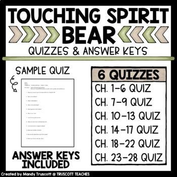 Touching Spirit Bear Quizzes