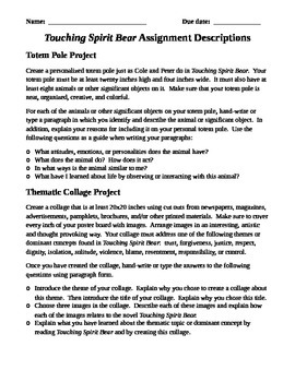 Touching Spirit Bear Reading Project Packet
