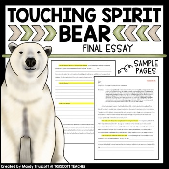 Touching Spirit Bear Writing Assignment