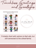 No Touch (Touchless) Greetings and Goodbyes Choice Chart