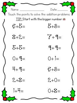 Touchmath Addition / Subtraction / Multiplication BUNDLE - Christmas Edition