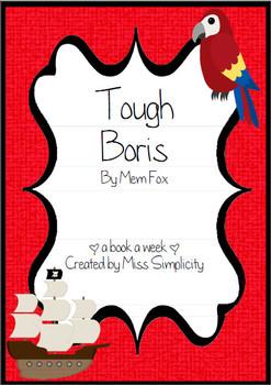 Tough Boris by Mem Fox ~ A week of reading activities PIRATE THEME