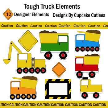 Tough Construction Truck Art Digital Set