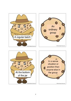"""Tough Cookie"" - Idiom Matching Card Game"