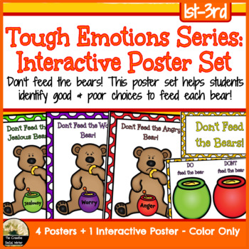 Tough Emotions: Anger, Jealousy, & Worry Interactive Poster Set