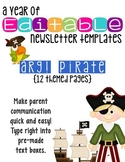Editable Newsletter Templates (12 included): Tough Pirate Theme