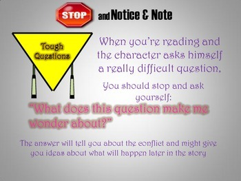 Tough Questions Anchor Chart