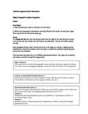 Toulmin Argumentation Body Paragraph Graphic Organizer