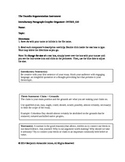 Toulmin Argumentation Intro Graphic Organizer