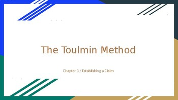 Toulmin Method Research Essay