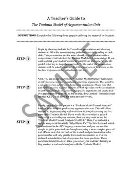 Toulmin Model of Argumentation Unit