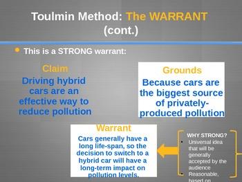 Toulmin Structure - Argumentative Writing