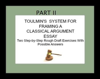 Toulmin's Courtroom System for Framing Classical Argument