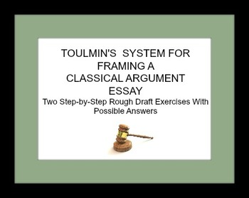 Toulmin's Courtroom System for Framing Classical Argument Essays