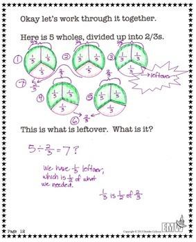 Dividing Fractions Lessons
