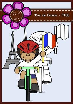 Tour de France - FREE Digital Clipart (color and black&white)
