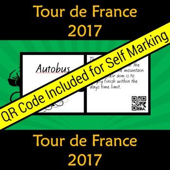 Tour de France Vocabulary Puzzle with QR code 2017